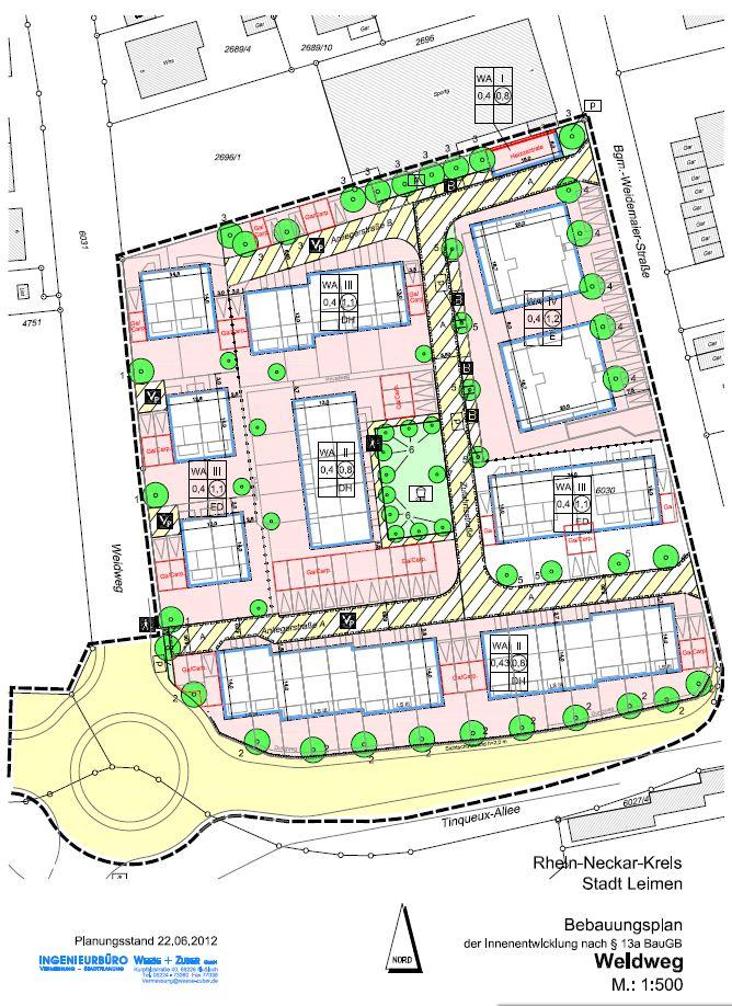 bebauungsplan weidweg liegt zur einsichtnahme bei stadtverwaltung aus leimen lokal leimen. Black Bedroom Furniture Sets. Home Design Ideas